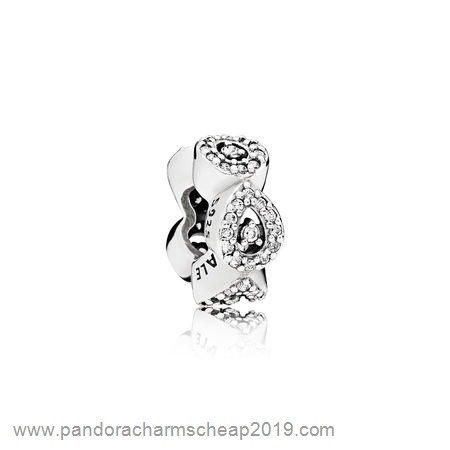 Pandora Original Pandora Passions Charms Chic Glamour Cascading Glamour Spacer Clear Cz