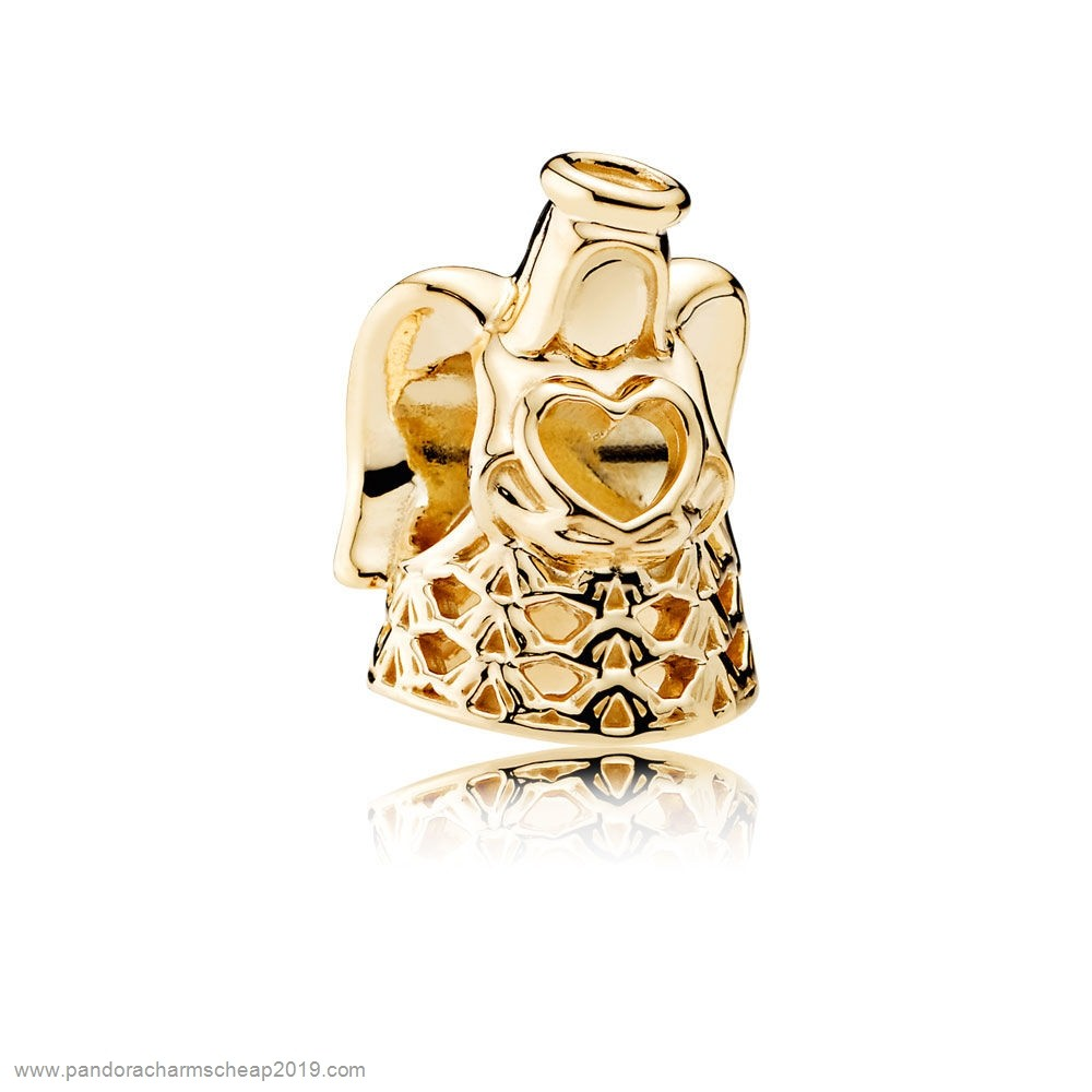 Pandora Original Pandora Holidays Charms Christmas Angel Of Grace Charm 14K Gold