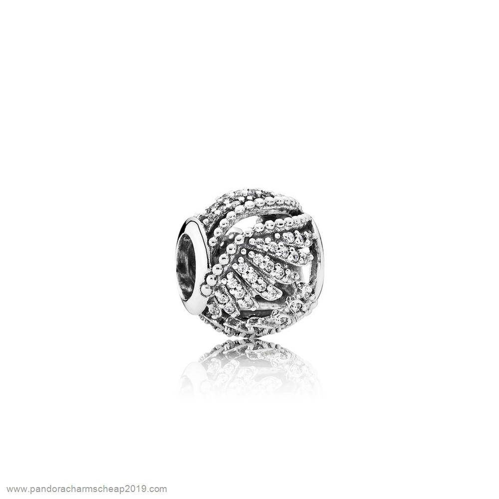 Pandora Original Pandora Inspirational Charms Majestic Feathers Clear Cz