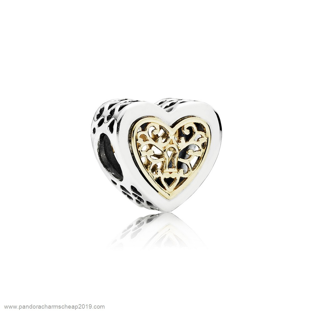 Pandora Original Pandora Valentine'S Day Charms Locked Hearts Charm