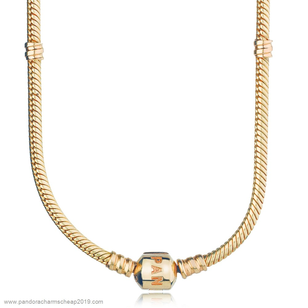Pandora Original Pandora Chains 14K Gold Charm Necklace