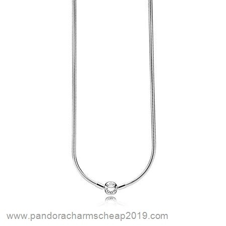 Pandora Original Pandora Chains With Pendant Sterling Silver Charm Necklace