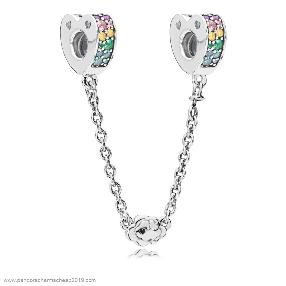 Pandora Original Multi Colour Arcs Of Love Safety Chain