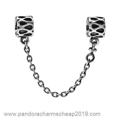 Pandora Original Pandora Safety Chains Pandora 925 Silver Raindrop Safety Chain