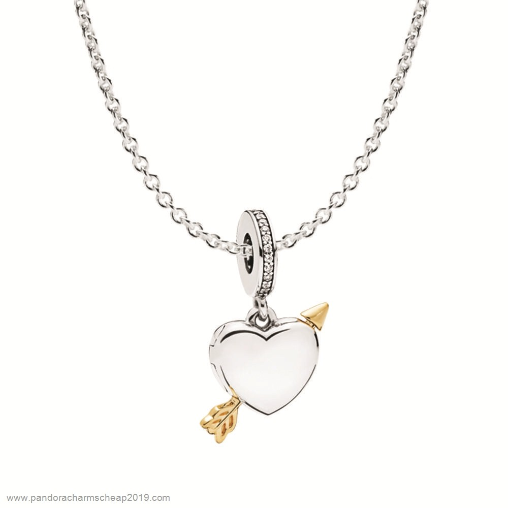 Pandora Original Cupid Doesn'T Make Mistakes Necklace Gift Set